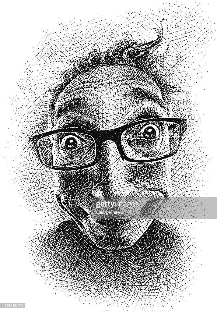 Funny Face : Arte vettoriale