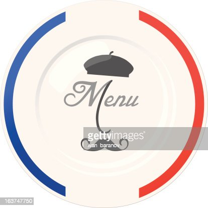 funny french restaurant menu cover design template vector art