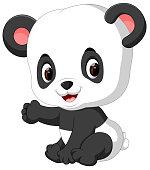 illustration of funny panda cartoon