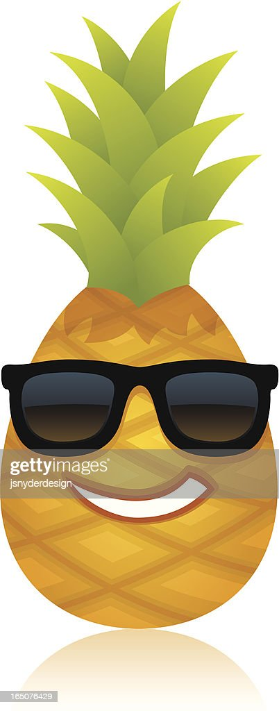 Funny Pineapple Vector Art   Getty Images