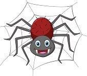 Vector Illustration of Funny spider cartoon