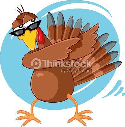 Funny Turkey Ready for Celebration Vector Cartoon : stock vector