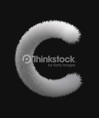 Fur texture letters : stock vector