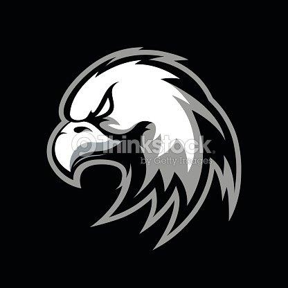 furieux eagle vector icon concept sportif isol233 sur fond