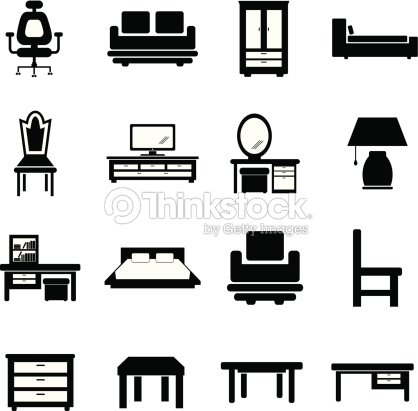Furniture Black And White Stock Vector Thinkstock