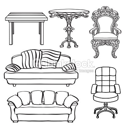 Magnificent Furniture Set Armchair Sofa Table Chair Throne Stock Vector Gmtry Best Dining Table And Chair Ideas Images Gmtryco