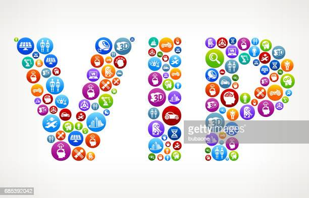VIP Future and Futuristic Technology Vector Buttons