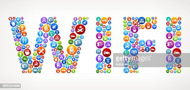 WIFI Future and Futuristic Technology Vector Buttons