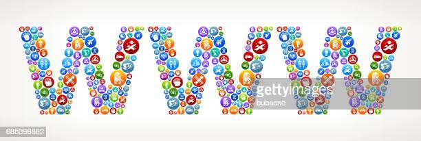 WWW Future and Futuristic Technology Vector Buttons