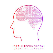 Future artificial intelligence technology. Mechanical brain creative idea vector concept. Artificial brain techology science illustration