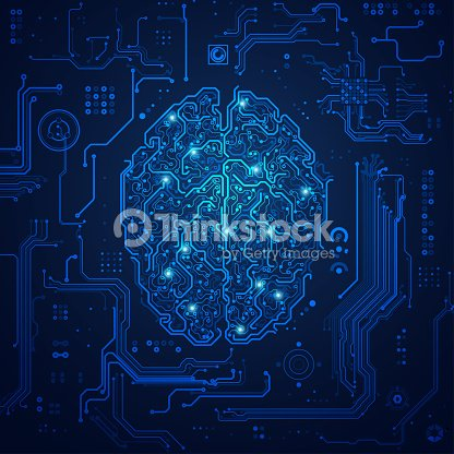 futuristic brain : stock vector