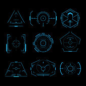 Futuristic crosshair set in vector