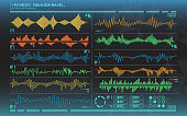 futuristic equalizer waves for the HUD interfaces. abstract virtual graphic.