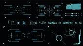 Futuristic user interface. Element user interface. Blue elements