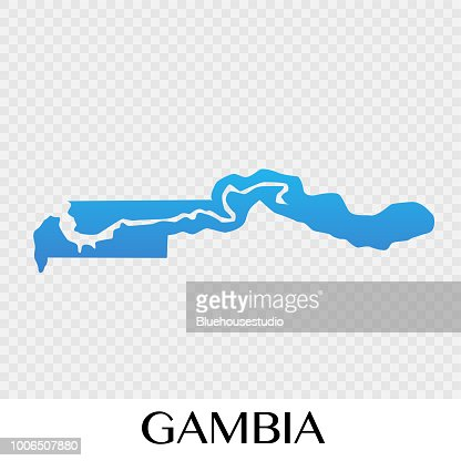 Gambia On Africa Map.Gambia Map In Africa Continent Illustration Design Vector Art