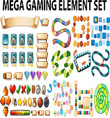 Game elements and template illustration