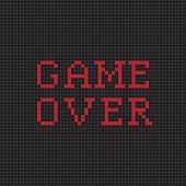 Game over. Vector pixel text message. Pixel art