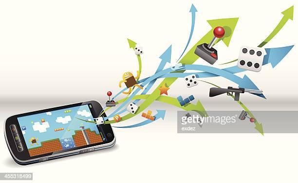 Gaming in smart phone