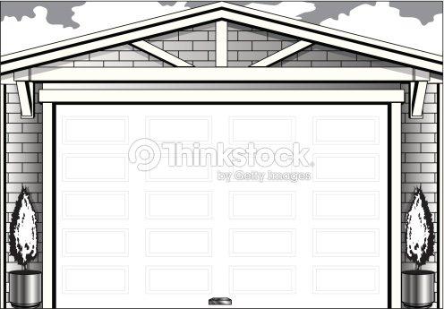 Garage Door Frame Vector Art   Thinkstock