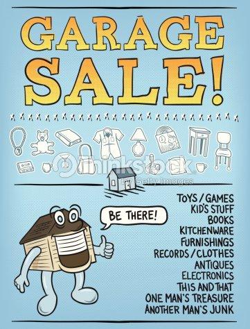 diy garage sale poster vector art thinkstock