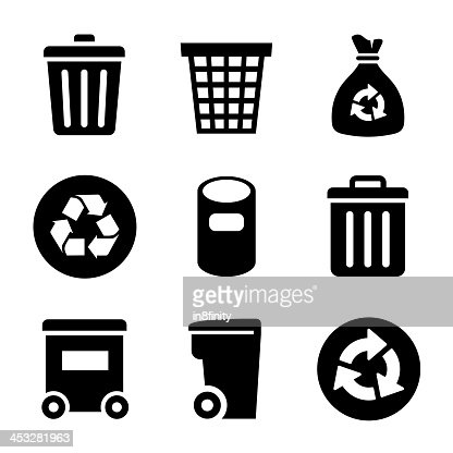 Garbage Icons set : stock vector