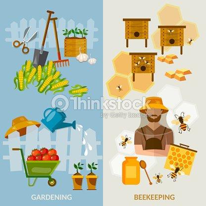 f174ded9b93 Jardim bandeiras apicultura equipamento cultivo de produtos hortícolas    Arte vetorial
