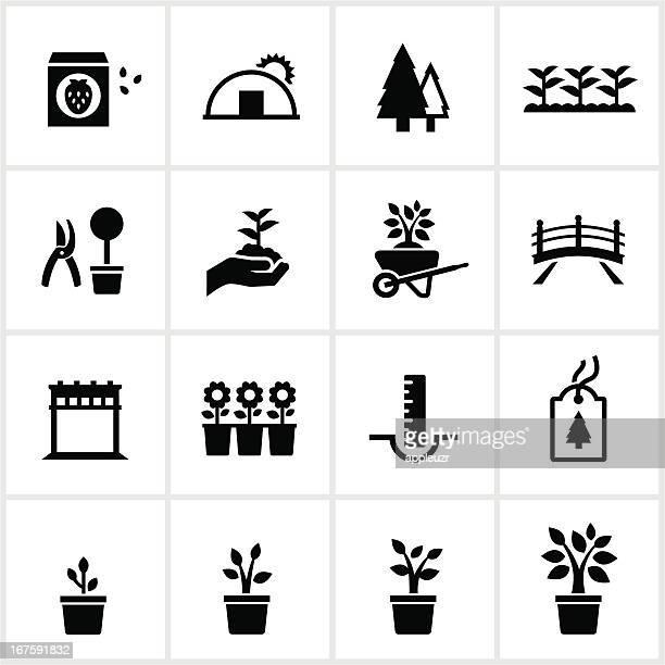 Jardinerie et icônes de garderie