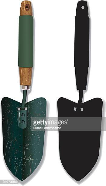 Masonry Trowel Sillouhette : Trowel stock illustrations and cartoons getty images
