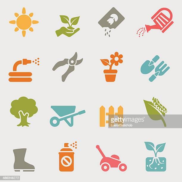 Jardinage de couleur authentiques. icons/EPS10