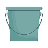 bucket; icon over white background. colorful design. vector illustration