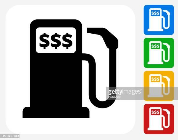 Gas Pump Icon Flat Graphic Design