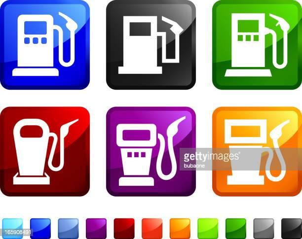 Gas Pump royalty free vector icon set stickers