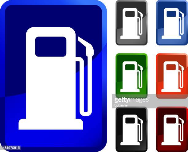 Gas Pump royalty free vector icon set stickers