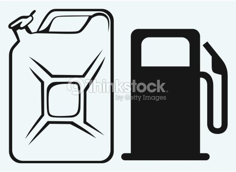 Gas Station And Jerrycan Vector Art Thinkstock