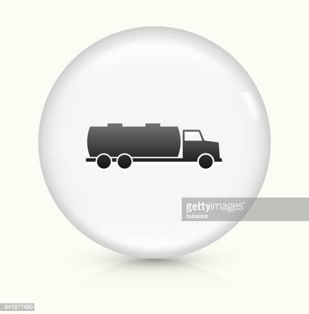 Gas Truck icon on white round vector button