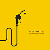 Gasoline pump nozzle sign. Gas station icon. Fuel pump petrol station. drop of gasoline.  refuel service. Vector illustration