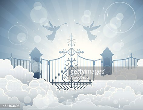 gates of heaven vector art getty images