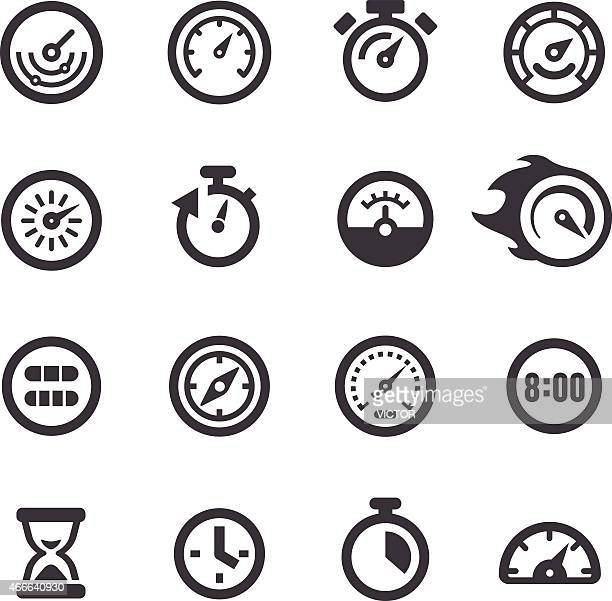 Gauge and Speedometer Icons - Acme Series