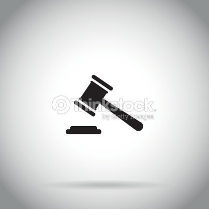 Gavel Icon Judge Hammer Symbol Auction Vector Art Thinkstock