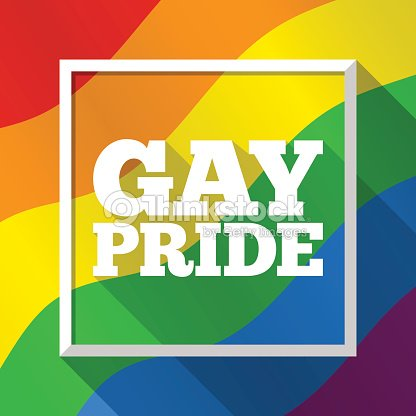 Gay Pride Rainbow Background Vector Illustration In Lgbt Flag Colors