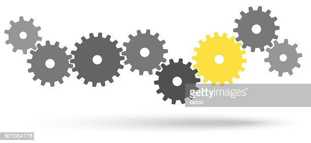 gears for cooperation symbolism : stock vector