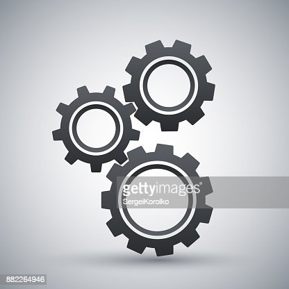 Gears or settings icon, stock vector : stock vector