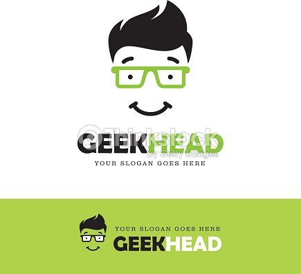 Geek Face Icon stock vector - Thinkstock