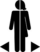gender differences icon on a white background