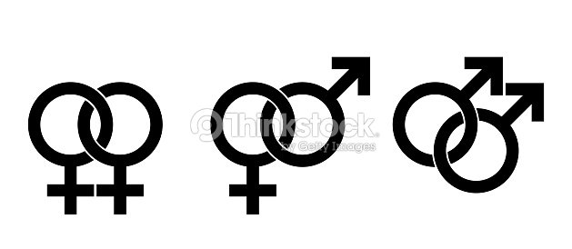 Gender Identity Symbols For Homosexuality And Heterosexuality Vector