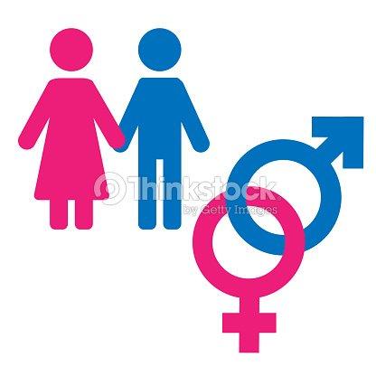 Gender Symbol Set Male Female Girl Boy Woman Man Icon Vector Art