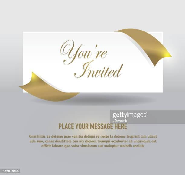 Allgemeiner gold und silver-Hüllenprotein Einladung Vorlage-design