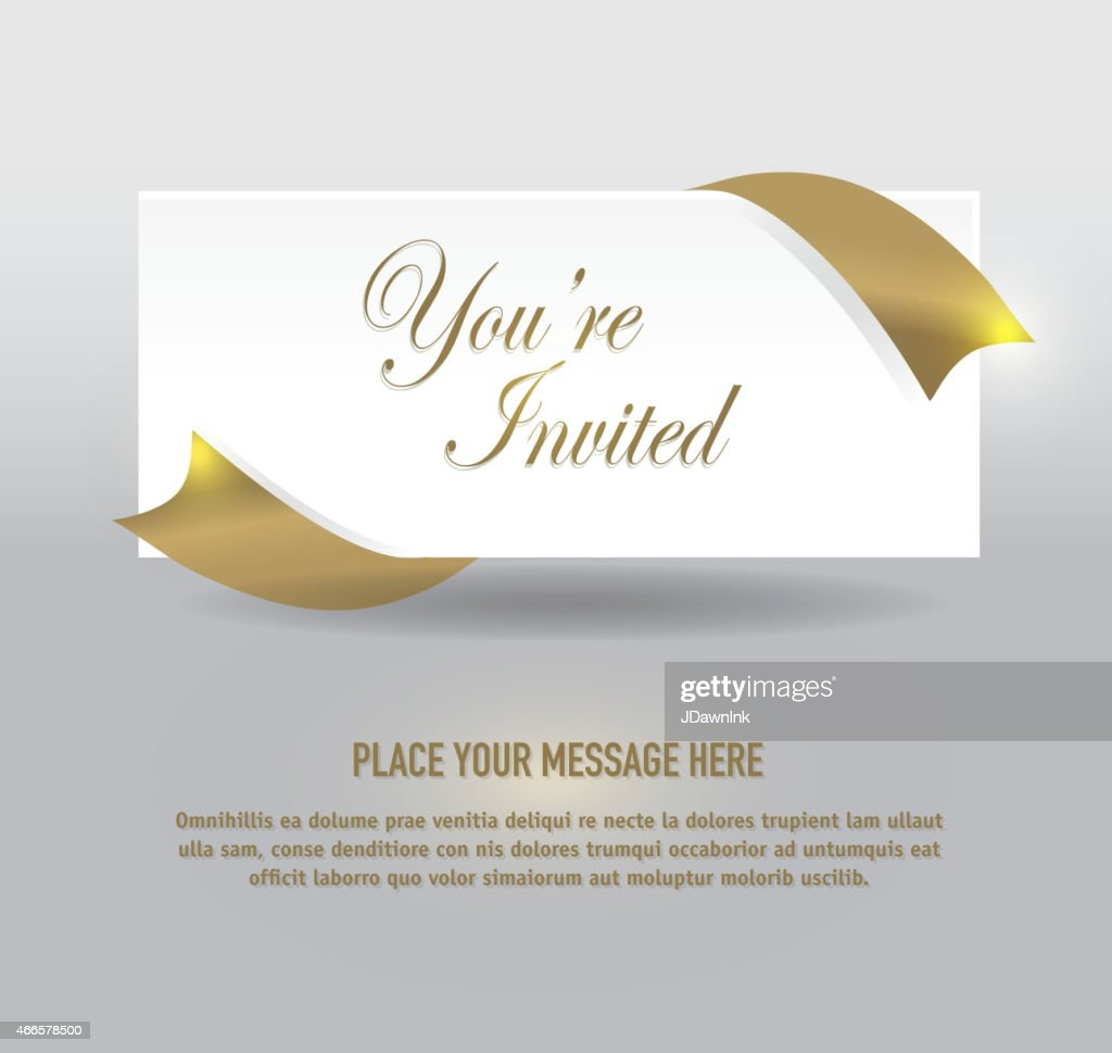 Wunderbar Generic Gold And Silver Envelope Invitation Template Design