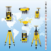 Geodetic measuring equipment, engineering technology for land survey