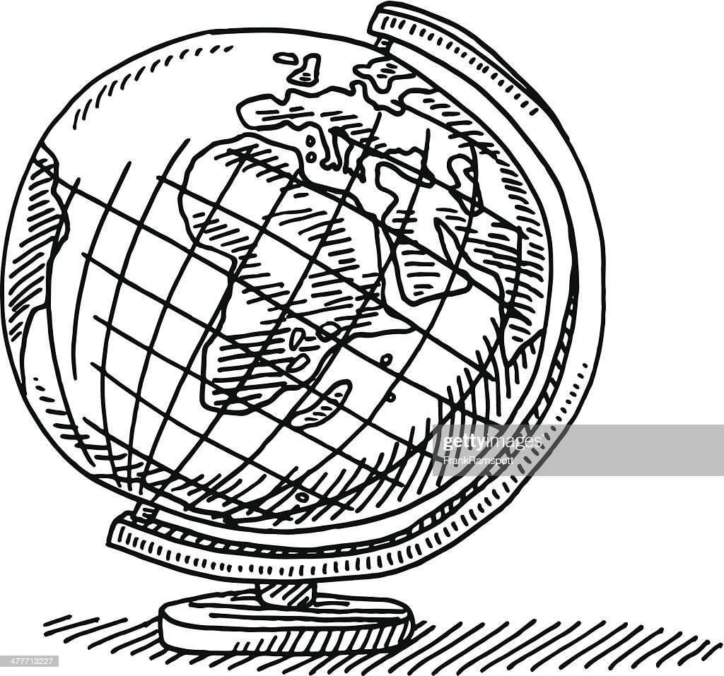 Geography Globe Drawing Vector Art | Getty Images